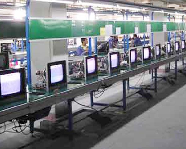 CRT电视总装线生产线